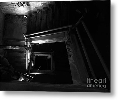 Into The Abyss - Bw Metal Print by James Aiken
