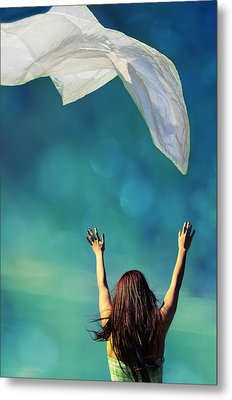 Into The Atmosphere Metal Print by Laura Fasulo