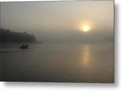 Into The Fog  Metal Print by Debbie Oppermann