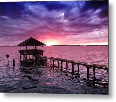 Metal Print featuring the photograph Into The Horizon by Rebecca Davis