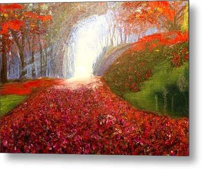 Metal Print featuring the painting Into The Light by Belinda Low