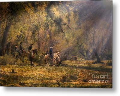 Into The Light Metal Print by Priscilla Burgers