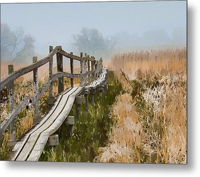 Into The Mist  By Leif Sohlman Metal Print by Leif Sohlman