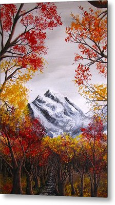 Into The Mountains Metal Print by Pheonix Creations