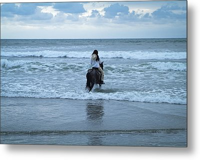 Metal Print featuring the photograph Into The Ocean by Lana Enderle
