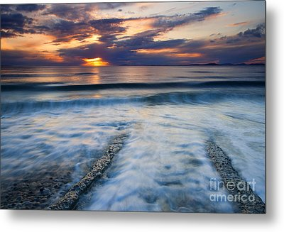 Into The Sea Metal Print by Mike  Dawson