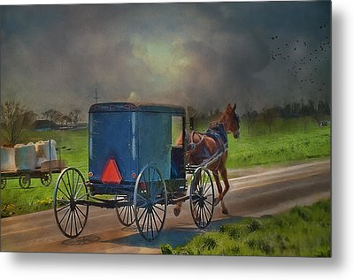 Into The Storm Metal Print by Kathy Jennings