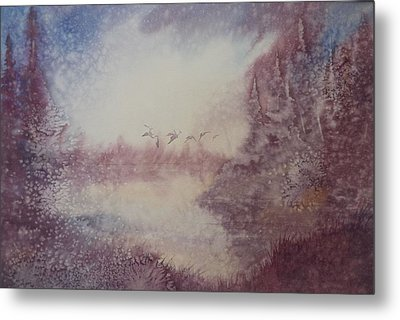 Metal Print featuring the painting Into The Storm by Richard Faulkner