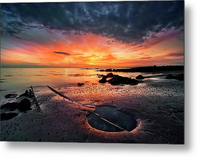 Into The Sunset Metal Print by ?orsteinn H. Ingibergsson