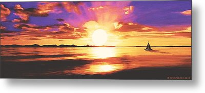Into The Sunset Metal Print by Sophia Schmierer