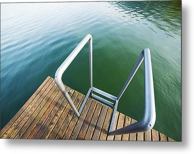 Metal Print featuring the photograph Into The Water by Chevy Fleet