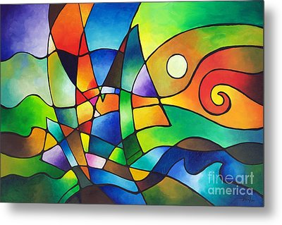 Into The Wind Metal Print by Sally Trace