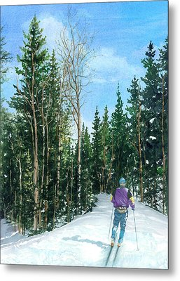 Into The Woods Metal Print by Barbara Jewell