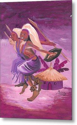 Intore Dance From Rwanda Metal Print by Emmanuel Baliyanga