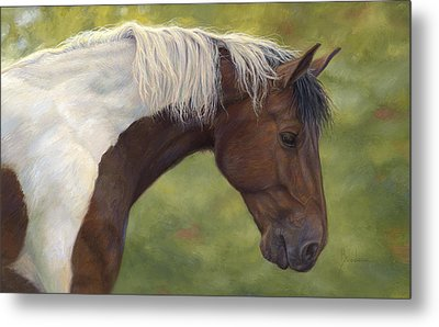 Intrigued Metal Print by Lucie Bilodeau