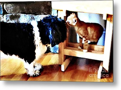 Introductions Metal Print by Nancy E Stein