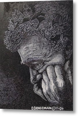 Introspection Metal Print by Denis Gloudeman