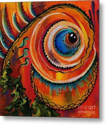 Metal Print featuring the painting Intuitive Spirit Eye by Deborha Kerr