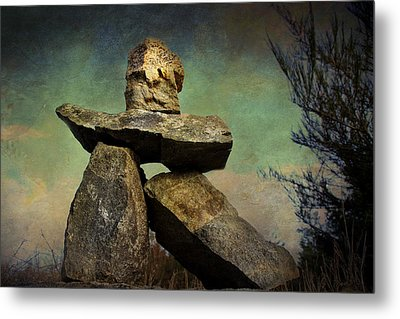 Metal Print featuring the photograph Inukshuk I by Peggy Collins