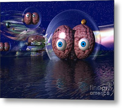 Metal Print featuring the digital art Invasion by Jacqueline Lloyd