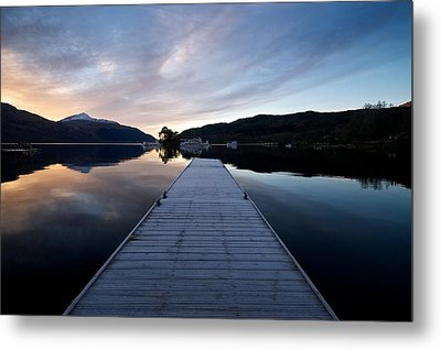 Metal Print featuring the photograph Invergluss Jetty A Winters Morning by Stephen Taylor