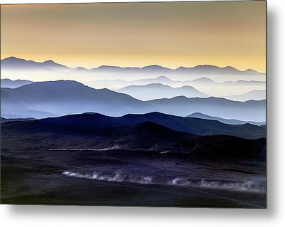 Inversion Layers In The Atacama Desert Metal Print