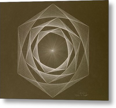 Inverted Energy Spiral Metal Print by Jason Padgett