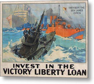 Invest In Victory Metal Print