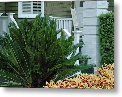 Inviting Front Porch Metal Print by Bruce Gourley