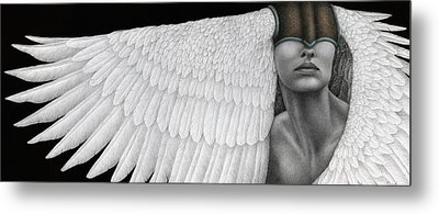 Inward Flight Metal Print