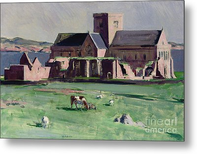 Iona Abbey From The Northwest Metal Print by Francis Campbell Boileau Cadell