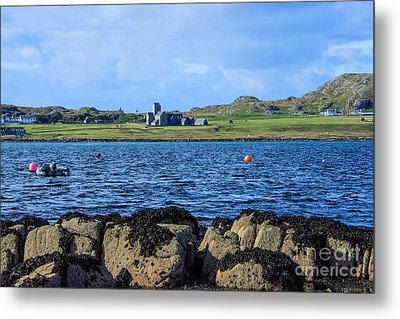 Iona Abbey Isle Of Iona Metal Print