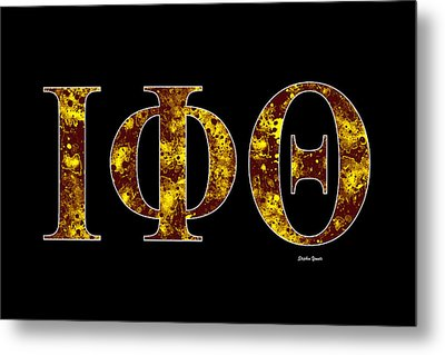 Iota Phi Theta - Black Metal Print by Stephen Younts