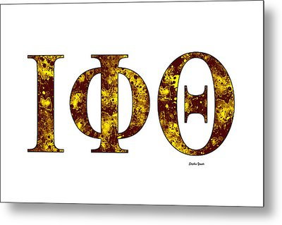 Iota Phi Theta - White Metal Print by Stephen Younts