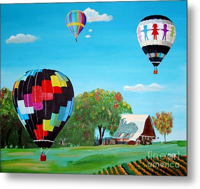 Iowa Balloons Metal Print