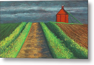 Iowa Country Road Metal Print by Garry McMichael