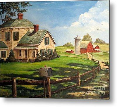 Cherokee Iowa Farm House Metal Print