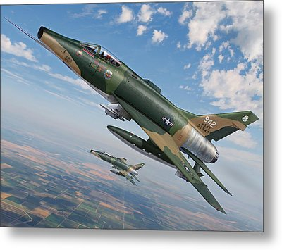 Iowa's Bicentennial Warriors F-100 Super Sabres Metal Print