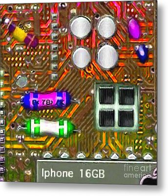 Iphone I-art M118 Square Metal Print by Wingsdomain Art and Photography