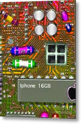 Iphone I-art M118 Metal Print by Wingsdomain Art and Photography