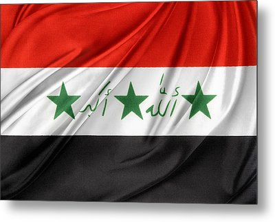 Iraq Flag Metal Print by Les Cunliffe