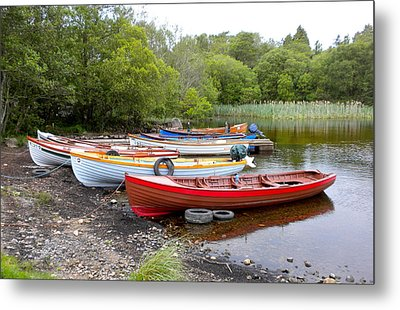 Ireland Boats 2 Metal Print by Teresa Tilley