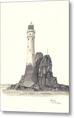 Ireland Lighthouse Metal Print