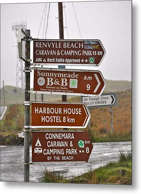 Ireland Signs 2 Metal Print by Teresa Tilley