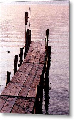 Metal Print featuring the photograph Irene's Dock by Susan Crossman Buscho