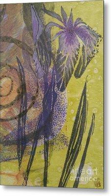 Iris And Spiral Metal Print