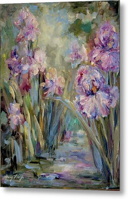 Iris Garden Metal Print by Mary Wolf