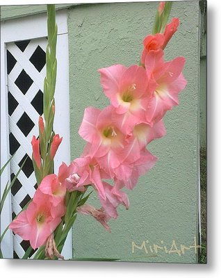 Iris No Layer Metal Print by Miriam Shaw