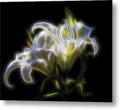 Metal Print featuring the digital art Iris Of The Eye by William Horden