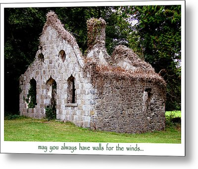 Irish Blessing Metal Print by Charlie and Norma Brock